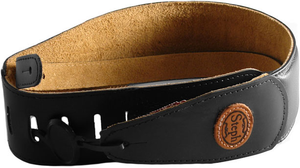 steph-gt304-cowhide-electric-guitar-strap-black-2